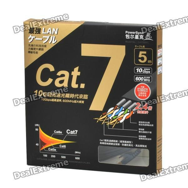 PowerSync Cat.7 RJ45 Ethernet de alta velocidad por cable (5m)